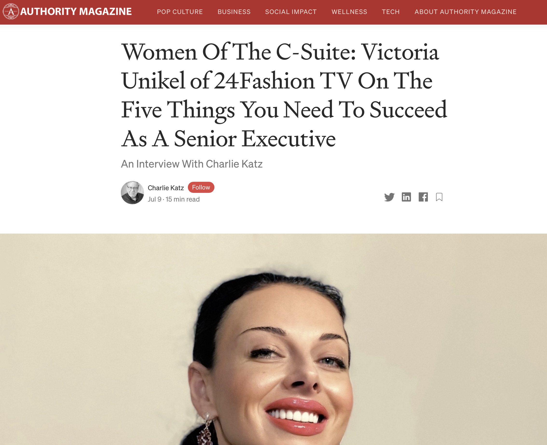 Victoria Unikel is a multitalented and award-winning international artist, CEO and co-founder of 24Fashion TV (24Fashion.TV), and President and co-founder of VUGA Enterprises.